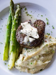 West Filet Mignon with Herbed Butter