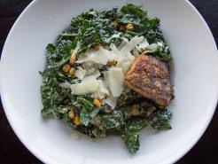 West Kale Salmon Salad